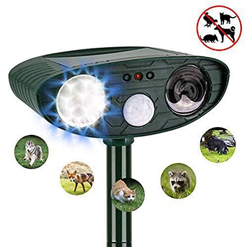 Katzenschreck Solar,Wasserdichte Abwehr und Tiervertreiber für Katzen, Hunde, Schädlinge, Rotwild