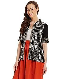 global desi Women's Rayon Blouson Jacket
