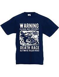 lepni.me Camisetas de Tirantes Para Hombre Carrera de La Muerte: Paseo definitivo, Carreras de Motos, Motorista de Cráneo,…