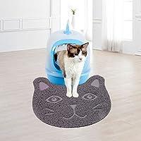 Alfombrilla de arena para gatos, suave, PVC antideslizante, diseño de cara de gato, alfombrilla para pies de mascota, alfombras para gatos, perros y conejos
