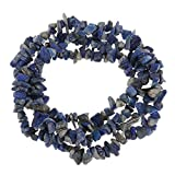 milageto Venta Al por Mayor De Piedras Preciosas Semipreciosas Chip Beads India Agate Pulsera Collar Strand - Azul