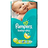 Pampers Baby Dry Taille 2 Mini 3-6kg (60) - Paquet de 6