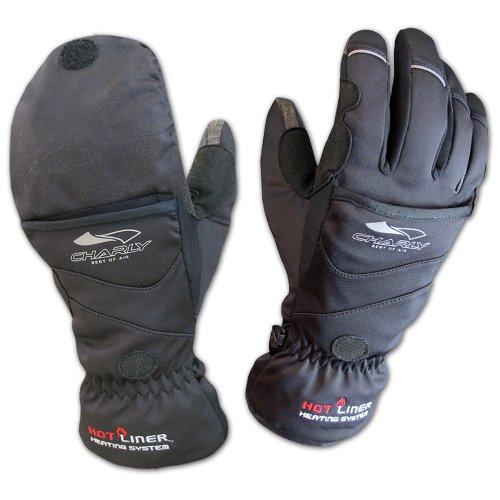 Charly Touch Combi Fingerhandschuh/Fäustling, Mit Heatpacks beheizbare Touchscreen-Handschuhe zum Gleitschirmfliegen, Langlaufen und Reiten, Unisex