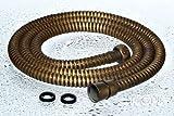Flexibler Duschschlauch Brause Schlauch 150 cm Antik Messing Metall Sanlingo