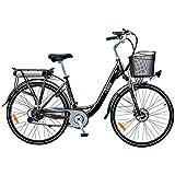 """i-Bike City 1d Bicicletta Elettrica Con Pedalata Assistita, Nero, 28"""""""