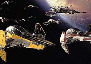 Fototapete Kinderzimmer Tapete Photomural STAR WARS Space