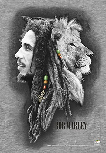 Heart Rock Licensed Bandiera Bob Marley - Profiles, Tessuto, Multicolore, 110X75X0,1 cm