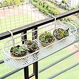 Willsego Pflanzenständer Eisen Armlehne Blumenständer Balkongeländer Hängepflanze Blumenständer Wand Topf Rack Hanger (Farbe : -, Größe : 30CM)