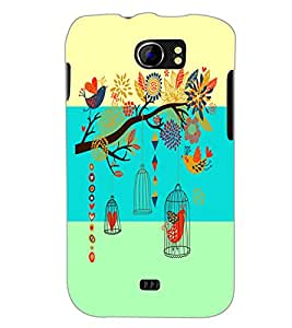 PrintDhaba Floral Pattern D-5933 Back Case Cover for MICROMAX A110Q CANVAS 2 PLUS (Multi-Coloured)