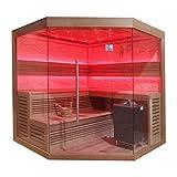 EO-SPA Sauna B1242 XL rote Zeder/250x250/12kW EOS BiO-Max