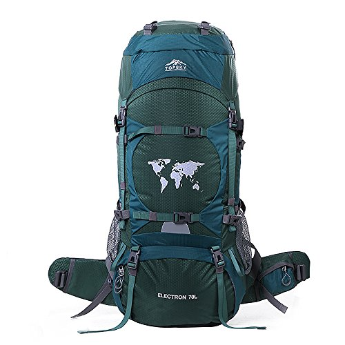 Topsky 70L Rucksack Wasserdicht Grosse Taschen Outdoor Camping Wandern Klettern Trekkingrucksaecke Mit Regen Abdeckung (Täglich Tabletten 1 30)