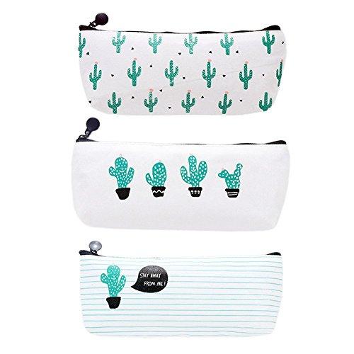 Cdet Mäppchen Cactus Muster Kleine Gegenstände / Schreibwaren / Kosmetik / Andern / Karte Beutel Handtasche Makeup Tasche,1 Pcs Zufallsmuster