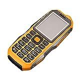 QHJ Dual Sim Outdoor Handy(6800mAh),IP68 Wasserdicht,Stoßfest, Rugged Handy Ohne Vertrag mit Lautem Lautsprecher (Gelb)