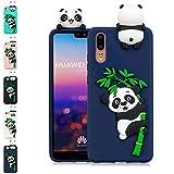 LA-Otter Coque iPhone X/iPhone XS Bleu Foncé Panda Ultra Fine Slim Mince Silicone...