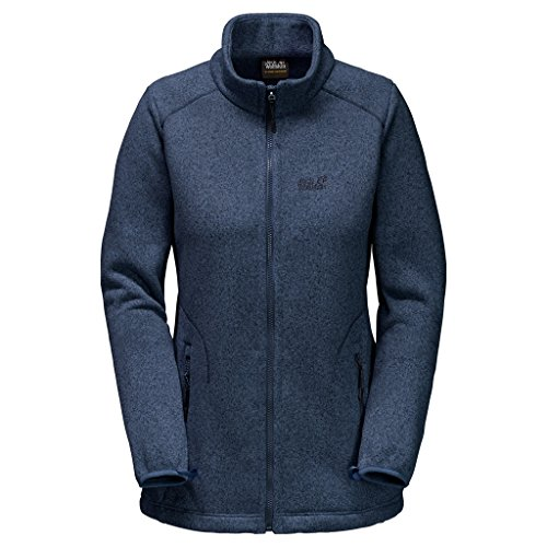 Jack Wolfskin Damen Karibu Altis Jacke XS Dark Sky (Columbia-fleece-jacken Frauen)