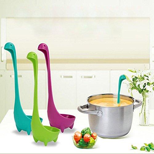 3Pcs Monstre du Loch Ness Monster Plastique Cuillère Gadget de Cuisine Cuisson outils