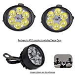 #7: A2D 6 LED Small Handle Mirror Mount AUX Bike Fog Lamp Light Set of 2 White-Yamaha SZ-RR