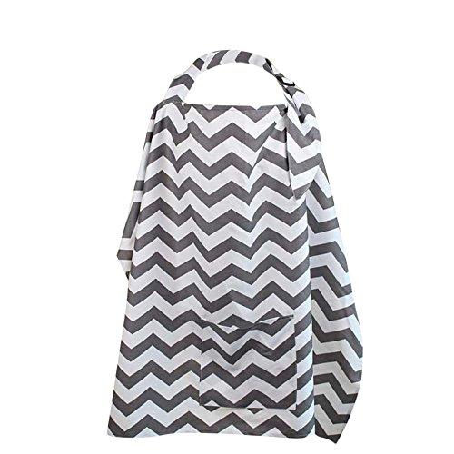 hunpta Baby Breastfeeding Cover Mum Cotton Nursing Udder Apron Shawl Cloth+Storage Bag (A)