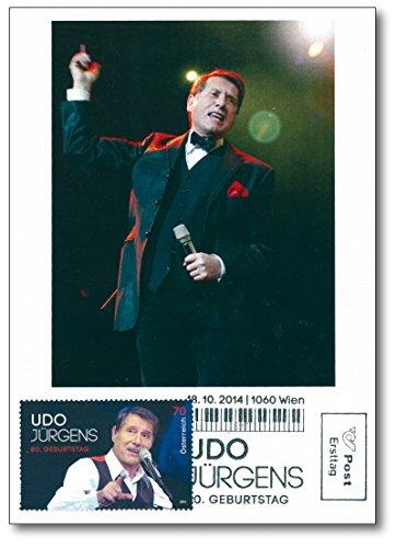 Preisvergleich Produktbild Udo Jürgens | 80. Geburtstag | Österreichische Post |Maximumkarte | Briefmarke | Sänger | Komponist | Entertainer |Musiker |Nennwert 0,70 Euro | Merci Chérie | Schlager | Pop | Chanson