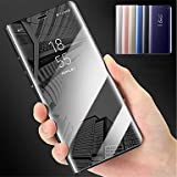Handy schützen, Hülle Für Samsung Galaxy A8 2018 A8 Plus 2018 mit Halterung Spiegel Ganzkörper-Gehäuse Solide Hart PC für A5(2018) A7(2018) A8+ 2018 A8 für Samsung