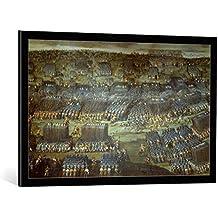 """Cuadro con marco: Dreißigjähriger Krieg """"The Battle at the White Mountain"""" - Impresión artística decorativa con marco de alta calidad, 95x60 cm, Negro / canto gris"""