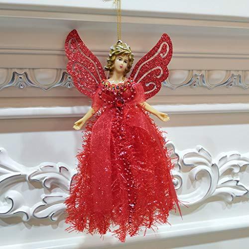Ciondolo albero di natale angelo di piume di natale decorazione dell'albero di natale regalo di natale addobbi e decorazioni decorazioni natalizie festa di natale baubles