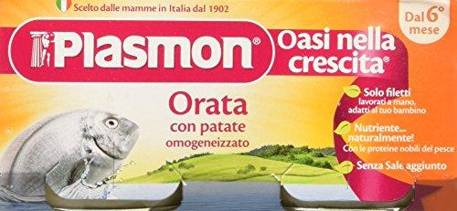 Plasmon Omogeneizzato di Pesce Orata 24 Vasetti da 80 gr