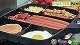 MASTER PAN Mehrfachpfanne, geteilte Bratpfanne für mehrere Speisen, Antihaftbeschichtung