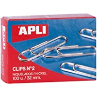 APLI 11711 - Clips níquel nº2 (32 mm), ...