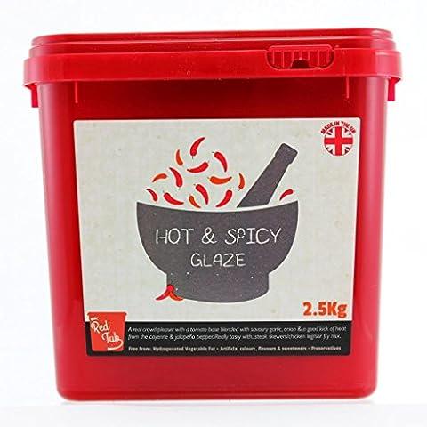 Eden elfes 1x Hot and Spicy Rouge Tub MRC Jaune à marinade viande assaisonnement Mélange 2.5kg