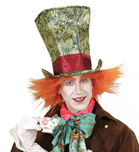 Verrückter Hutmacher ZYLINDER mit HAAREN Mad Hatter Kostüm Hut Perücke (Hatters Mad Kostüme)