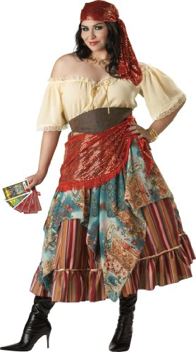 InCharacter - Zeichendeuterin Zigeunerin Kostüm - XX-Large