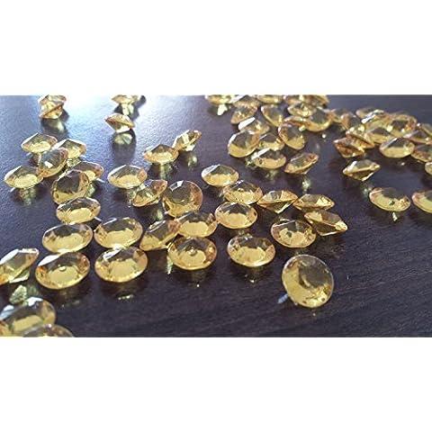 Nuovi 2000 Diamanti Pietre decorative Acrilico Confetti decorativi (scuro oro) Decorazione tavolo Cristallo 7 mm per matrimoni Decorazione natalizia