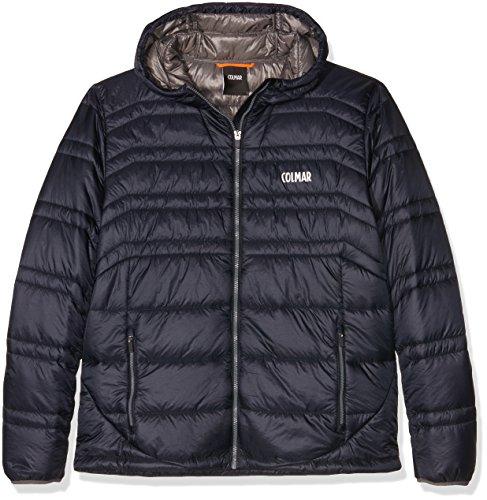Colmar Uomo Levity Hooded Evo Down Jacket Giacca da Sci, Uomo, Levity Hooded Evo Down Jacket, Blu - Navy Blue, L