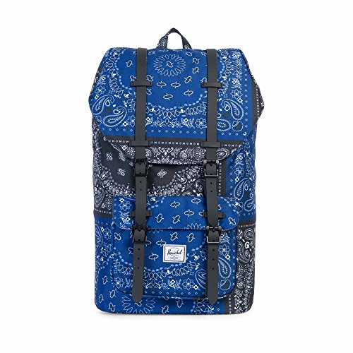 Herschel Supply Co. Rucksack Little America, Raven Crosshatch/Black Rubber (grau) - 10014-01132-OS Navy/Black Bandana/Black Rubber