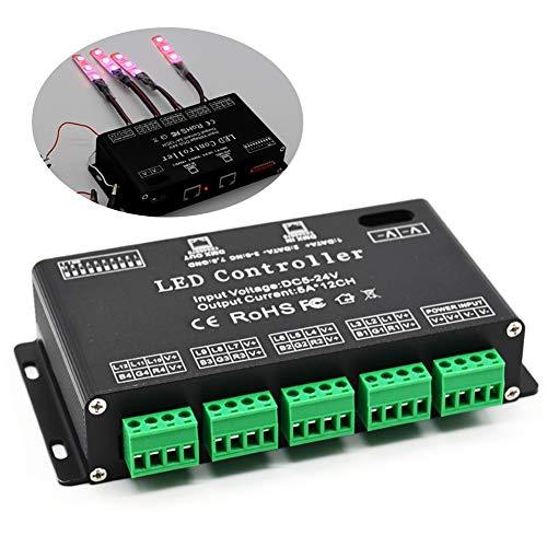 DMX Decoder costante dimmer durevole efficace ad alta potenza RGB LED modulo controller accessori DC5V-24V 12 canali driver