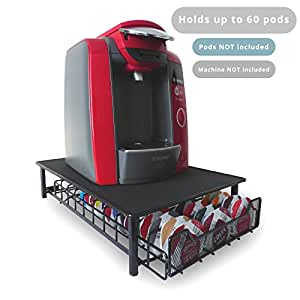 60 t disc pod tassimo coffee holder dispenser stand drawer storage m w black. Black Bedroom Furniture Sets. Home Design Ideas