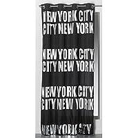 Serie de alta calidad–New York City–Cortina opaca 140cm de ancho x 260cm de alto–negro