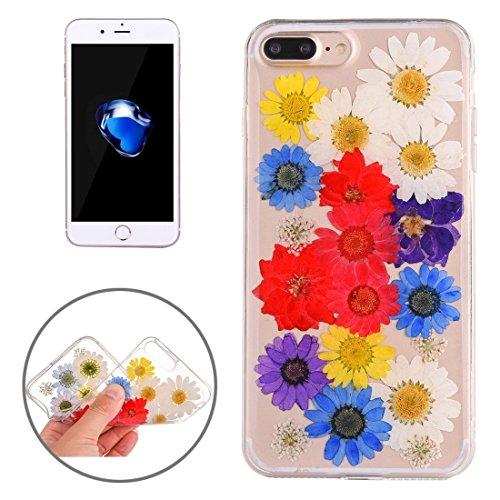 Wkae Epoxy Dripping gepresste echte getrocknete Blume weiche transparente TPU Schutzhülle für iPhone 7 Plus ( SKU : Ip7p0996a ) Ip7p0996h