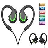 Bluetooth Sport Kopfhörer Kabellos In Ear, elecfan Noise Cancelling Wireless Sport Headphones Ohrhörer mit Mikrofon für Samsung S9 S9plus iPhone 8/X/8 plus für Joggen Yoga Hausarbeit - Grün