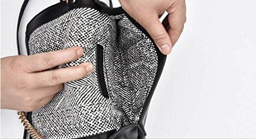 GSHGA Neue Echtleder Handtaschen V Grid Kette Tasche Damen Umhängetasche Totes Cross-Body Taschen Rindleder,Black2 Burgundy