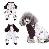 Happy Singe Pyjama vêtement pour chien confortable Puppy Pyjamsa doux Chien JumpSuit pour homme 100% coton Manteau pour petits chiens et chats par Hongyh
