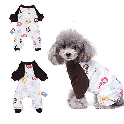 HongYH 'Schlafanzug, für Hunde, Welpen, pyjamsa Hunde-Overall, 100% Baumwolle, für kleine Hunde und ()
