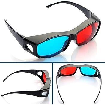 Rouge Bleu Cyan NVIDIA 3D Lunettes Glasses Vision Anaglyphe Pour Caméra Film