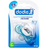 Dodie 5411127 - Chupete de silicona con anilla (N° 20, primera etapa)