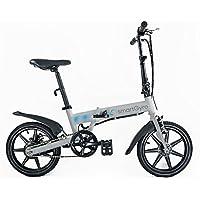 "Smartgyro Ebike Silver - Bicicleta Eléctrica Plegablecon con asistente al pedaleo, ruedas de 16"",Batería de litio de 4400- 36v , color plata"