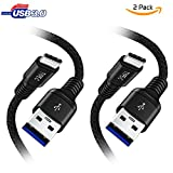 ULTRICS USB C Kabel, 1M 2Pack Typ C Auf USB 3.0 A Type Ladekabel Nylon Geflochten Datenkabel, Schnelle Geschwindigkeit Sync Schnur fur Samsung Galaxy S8 S8+ Note 8 LG Nexus Nintendo Switch MacBook - Schwarz