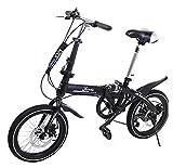 Riscko Super Bike Bicicleta Plegable Unisex de 16'' (Negro)