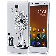 tinxi® Funda de silicona para Xiaomi MI4 Mi4 M4 5,0 pulgadas la cubierta protectora Los niños y los dientes de león