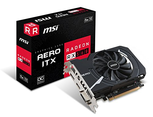 MSI Radeon RX 560 Aero ITX OC 4GB AMD GDDR5 1x HDMI, 1x DP, 1x DL-DVI-D, 2 Slot Mini PC, Afterburner OC, AMD FreeSync, Grafikkarte